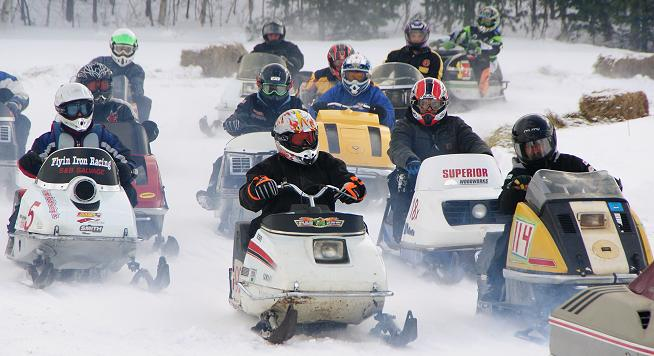 Lincoln vintage snowmobile race pity, that