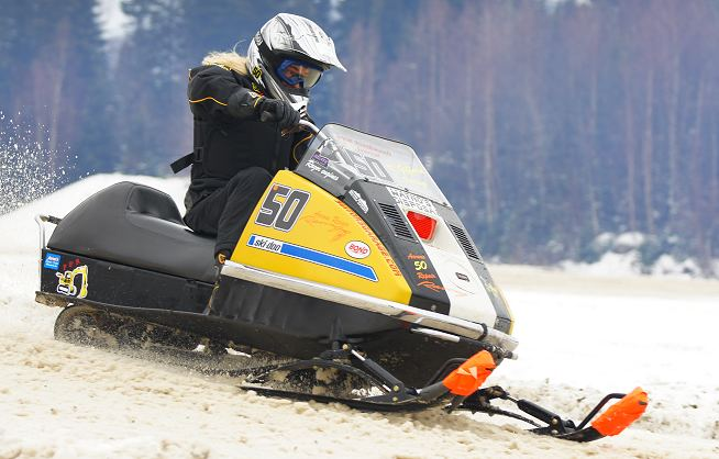 For Lincoln vintage snowmobile race are